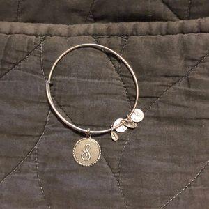 """Alex and Ani """"S"""" silver bracelet"""